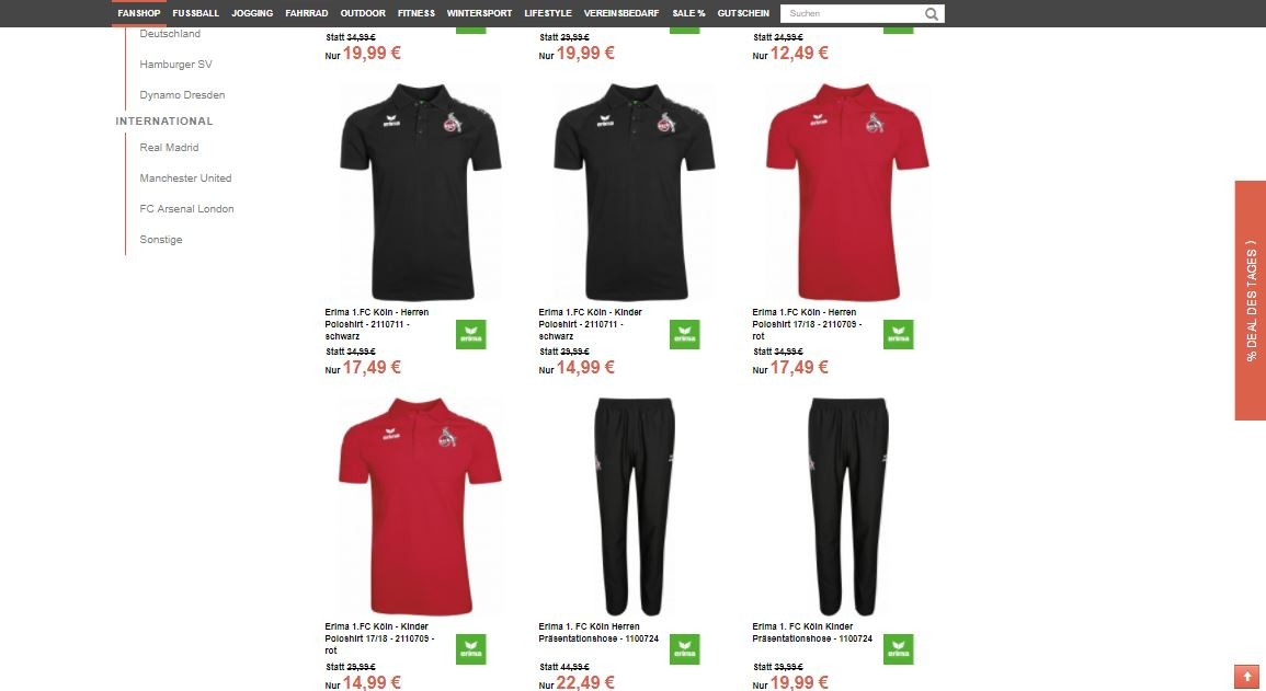 Fanartikel Sale Für 1fc Köln Fans Von Shirts über Hosen