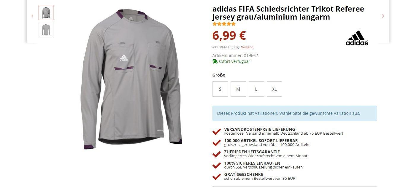 sale the latest quality 65% Schnäppchen. adidas FIFA Schiedsrichter Trikot Referee ...